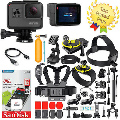 GoPro HERO 5 Black Edition TouchScreen + 40 Pcs Sports Accessories Kit Bundle!