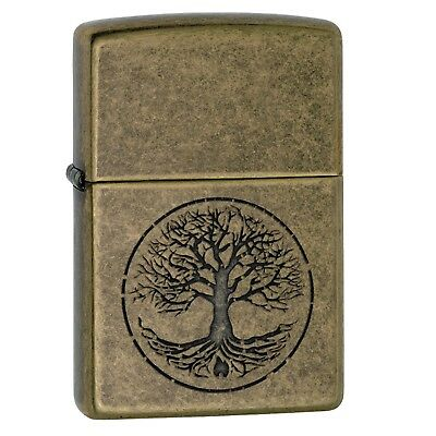 29149 Zippo Tree of Life Pocket Lighter-Antique Brass Finish