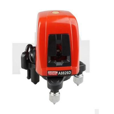 A8826D Laser Level 2 Line 1 Dots 1V1H Portable 360 Self-leveling Cross Red Line