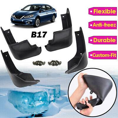 Set Mud Flap Fit For 13> Nissan Sentra Pulsar Sylphy B17 Splash Guards Mudguards
