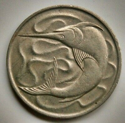 Singapore 20 Cents 1967  Sword Fish  Coin