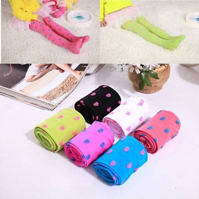 Kids Girl Love Heart Trousers Pantyhose Stocking Tights Full Foot Socks Gift new