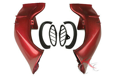 Red Ram Air Intake Duct Tube For Yamaha YZFR1 YZF R1 YZF-R1 2004-2006 2005