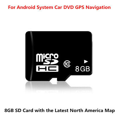 8GB Latest Micro SD Card Car GPS Software For Android System North America Map