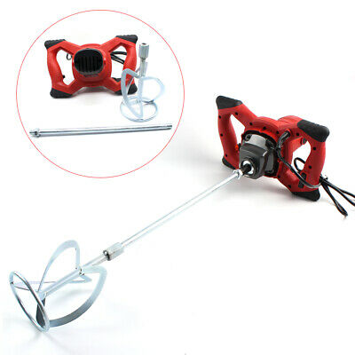 6-Speed 1600W Pro Portable Hand-Held Mixer Stirring Tool for Cement Plaster UK