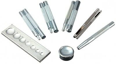 11pcs Craft Tool Die Punch Snap Rivet Setter Kit For DIY Leather Craft