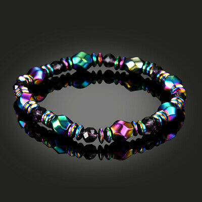 Weight Loss Multicolor Magnetic Bracelet Beads Hematite Stone for Therapy