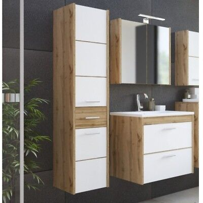 badm bel set cosmo 60 cm weiss badezimmer mit waschbecken badezimmerm bel led eur 649 00. Black Bedroom Furniture Sets. Home Design Ideas