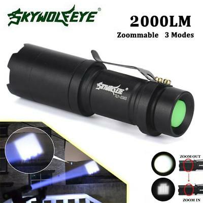 5000LM Super Bright Zoomable Q5 AA/14500 3 Modes LED Flashlight Torch Light