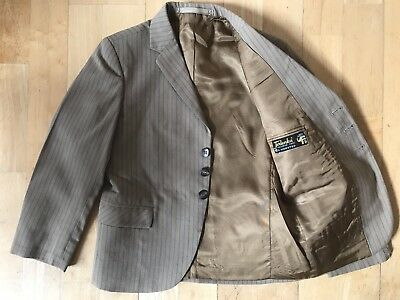Vintage 60s Boys Worsted Sports Jacket Terlenka Silk Lined Smart 1960s MOD