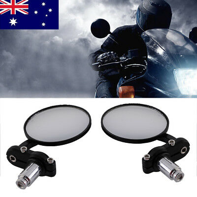 """HighQuality Aluminum Alloy Rearview 0.87"""" Handlebars Mirrors Round Motorcycle AU"""
