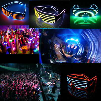 Halloween Flashing LED Light Up Rave Halloween Festival Night Party Dance EL