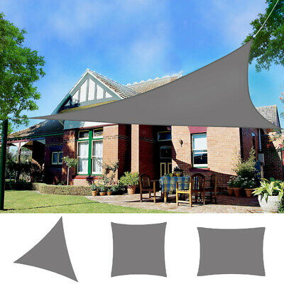 Sun Shade Sail Garden Patio Sunscreen Awning Canopy Shade 98% UV Block Grey