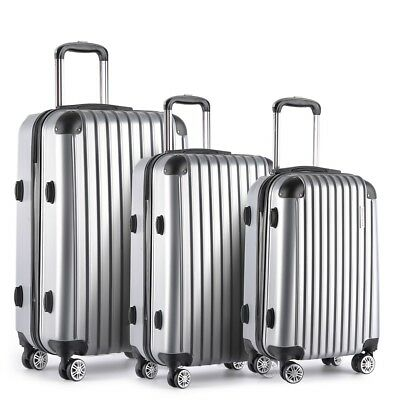 Wanderlite 3pc Luggage Suitcase Trolley Set TSA Travel Hard Case Lightweight