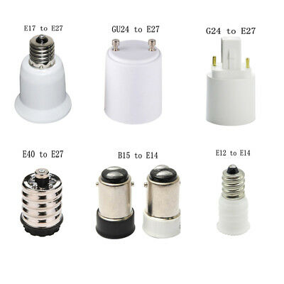 E17/E40/E27/GU24/G24 to E27 Socket LED Lamp Adapter 2018 New