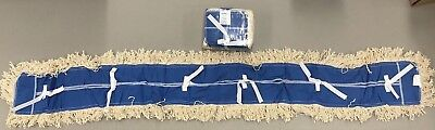 """Abco Products Helper Line Janitorial Dust Mop Replacement Heads 5"""" x 60"""" (NEW)"""