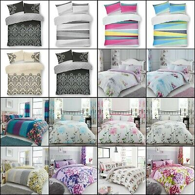 Duvet Cover with Pillow Case Quilt Cover Bedding Set Single Double King New