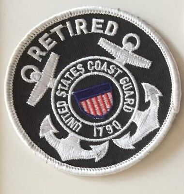 USCG United States. Coast Guard Retired Patch 3 in dia #2665