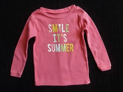 """Baby clothes GIRL 12-18m GAP """"Smile... pink long sleeve t-shirt SEE SHOP COMBINE"""
