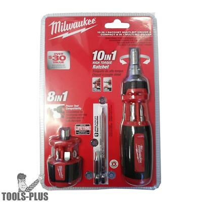 Milwaukee 48-22-2302P 10-in-1 Ratchet Multi Driver w/8-in-1 Compact Driver New