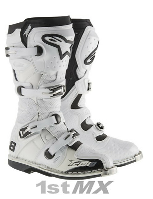Alpinestars Tech 8RS 8 RS MX Motocross Offroad Race Boots White Adult UK9 US10