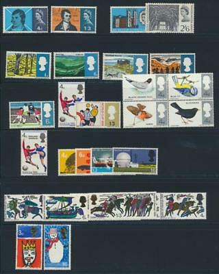 GB 1966 Commemorative Complete Year MNH