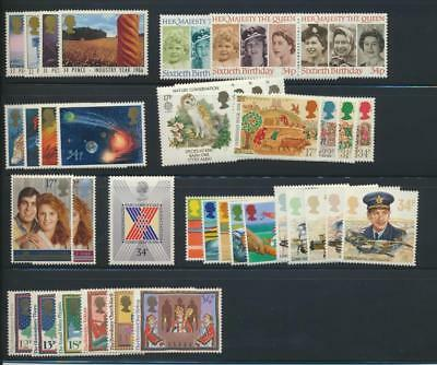GB 1986 Commemorative Complete Year MNH