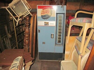 Vintage PEPSI COLA VENDING MACHINE BOTTLE SODA POP COIN OPERATED ELECTRIC 1970'S