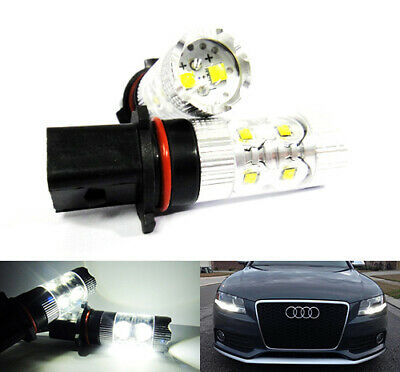 2x P13W Bulb High Power LED 50W Fog Daytime Light DRL White Audi A4 B8 Yeti RZG