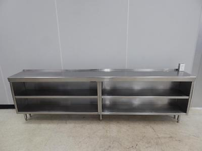 """Stainless Steel Cabinet Table, 112"""" x 16"""""""