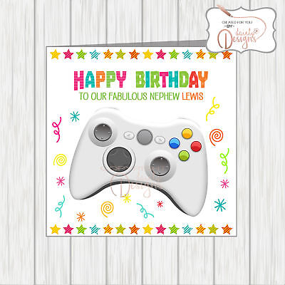 Personalised Birthday Card Level Up Gamer Pc Xbox Playstation
