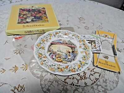 Royal Doulton Brambly Hedge Crabapple Cottage Collector Plate NIB
