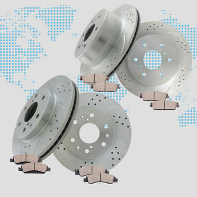 Brake Rotors and Ceramic Pads for 2010 2011 2012 2013 GMC Sierra 1500 XFE  5.3L