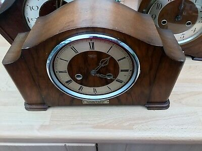 "Lovely Smiths Enfield Striking Chiming Mantel Clock Circa 1950'S ""CONYGRE LTD"""