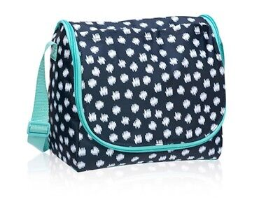 NEW Thirty One Thermal Navy Doodle Dot GOING PLACES THERMAL 31 Teal Tote Retired