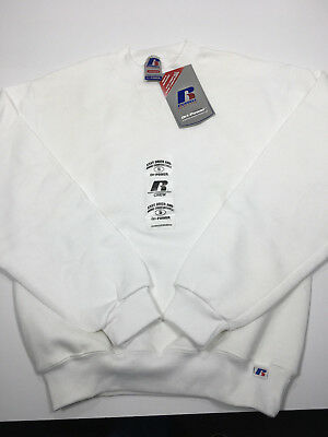 Kids Boys Girls Sweatshirt Russell Youth Small White Crew Neck Outerwear NWT