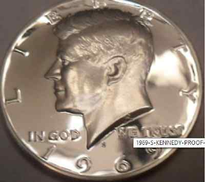 GEM PROOF 1969-S KENNEDY 40% SILVER HALF DOLLAR FROM ORIGINAL SET 1Buy=1Coin
