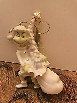 Away with the Tree - Pink Boxed Grinch Lenox Ornament