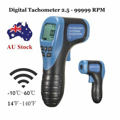DIGITAL Digital Laser Tachometer NON-CONTACT RPM TACH TESTER METER SPEED GAUGEIZ