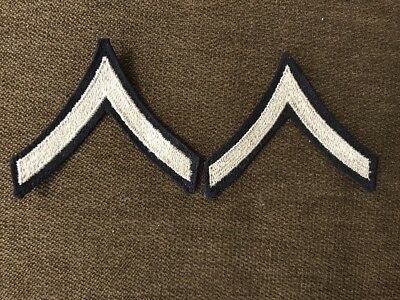 1 Pair Original Us Army Wwii Private Pfc Stripes Patches