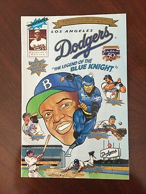 L A Dodgers Promo Comic – Jackie Robinson 50th Anniversary – NM – Free Shipping