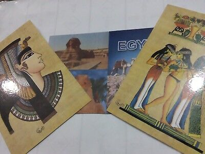 beautiful gift 3 egyptian cards all new free shipping  lot no 1779