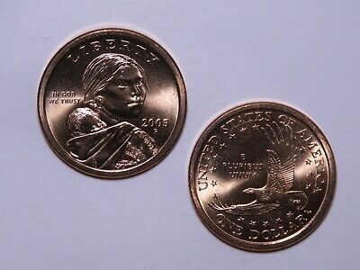 2005-P Sacagawea Native American Dollar - Uncirculated from US Mint Rolls