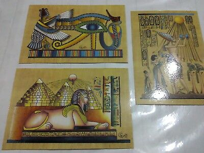 beautiful gift 3 egyptian cards all new free shipping  lot no 1781