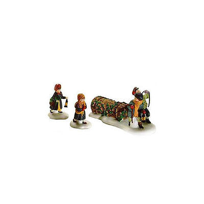 Dept 56 Dickens Snow Village  Bringing Home the Yule Log 55811