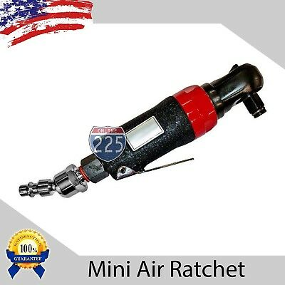 "Mini Air Impact Ratchet Pneumatic Tool - 3/8"" Hose 20 ft/lb Torque w 1/2"" Swivel"