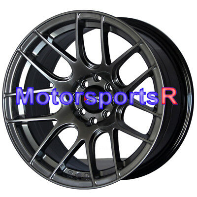 XXR Wheels 530 15x8 +20 Chromium Black Rims Stance 4x100 92 95 02 Honda Civic SI