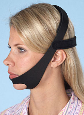 CPAP Chin Restraint Chin Strap Black Support for CPAP mask sleep apnea NEW