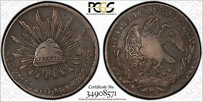 1832-Zs OM Mexico 8 Reales PCGS XF-40 Zacatecas Mint Only 4 better - great color