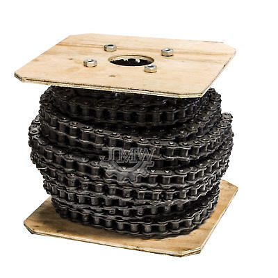 #50 Roller Chain 100 Feet with 10 Connecting Links